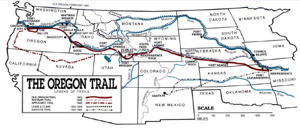 OregonTrailMap